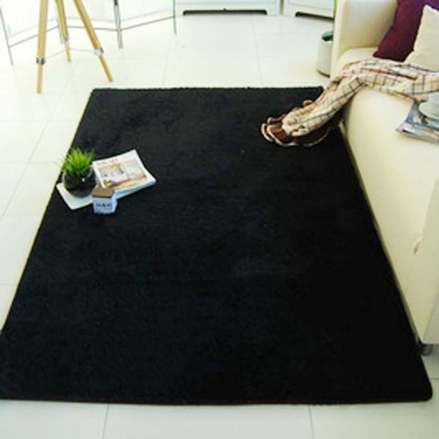 Black Shag Rug Fluffy Rugs Anti Skiding Photos 83