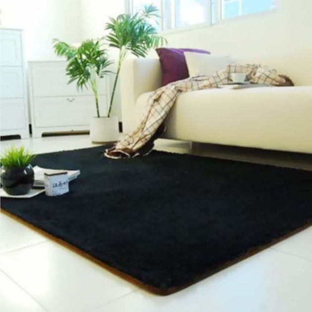 Black Shag Rug Promotion Shop Fluffy Rugs Anti Skiding Images 20