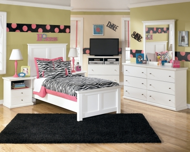 Black Shag Rug Teen Room White Wooden Bedroom Sets Pics 70