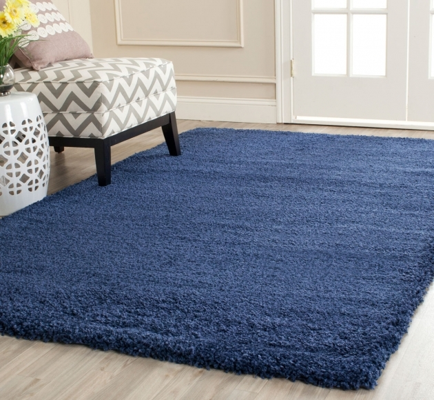 Blue Shag Rug Navy Milan Collection Pic 51