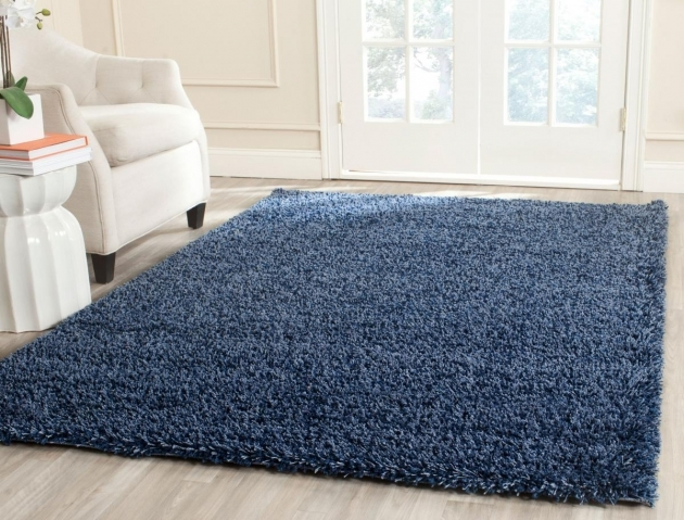 Blue Shag Rug Plush Pile Navy Shag California Shag Collection Pictures 66