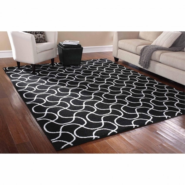 Cheap Area Rugs 8x10 Black Only At Mainstays Rug In A Bag Drizzle Area Blackwhite Photos 65