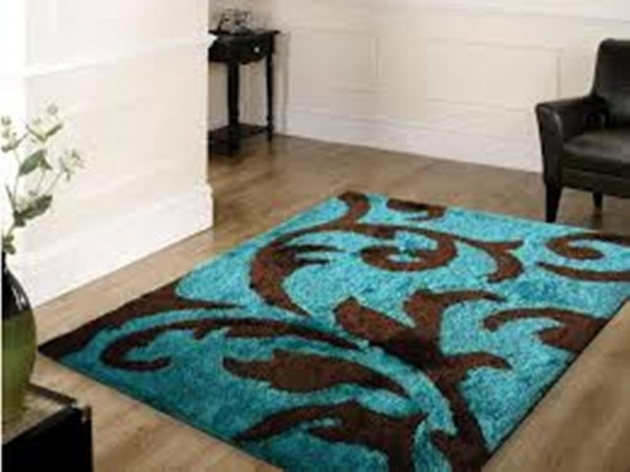 Cheap Area Rugs 8x10 Turquoise Contemporary Room Picture 08