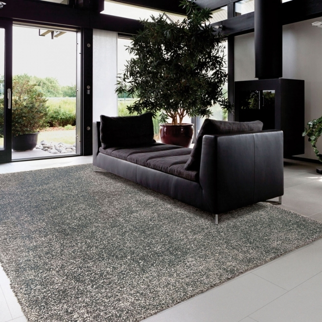 Gray Shag Rug Contemporary Living Room Light Grey Shag Costco Area Rug Chrome Legs With Black Leather Sofa Picture 44