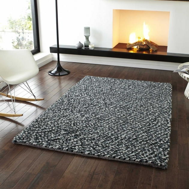 Gray Shag Rug Pebbles Wool Shaggy Rugs In Grey Free Uk Delivery Photo 37