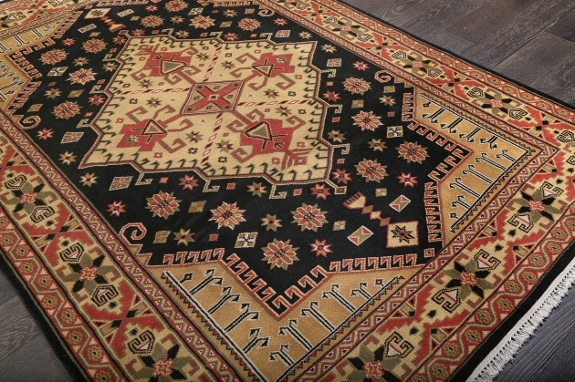 Hand Knotted Persian Rugs Gallery Tribal Black Hand Knotted Wool Rug Pics 44