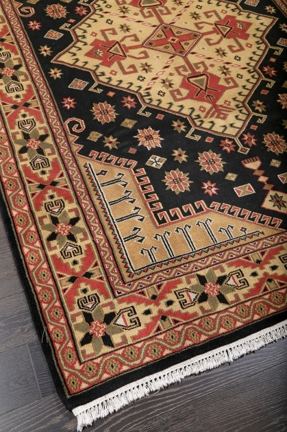 Hand Knotted Persian Rugs Tribal Black Hand Knotted Wool Rug Images 04