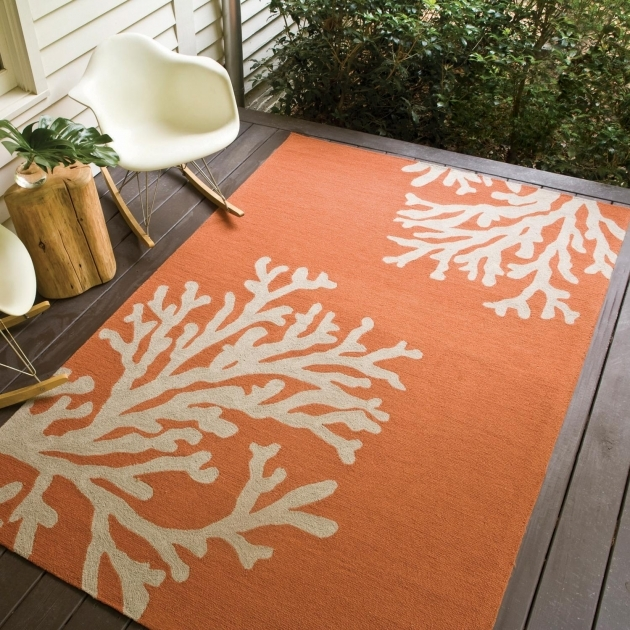 Indoor Outdoor Rugs Decorating Enjoyable For Best Exterior In Cute Orange Rugs For Charming Wooden Decks Pics 46