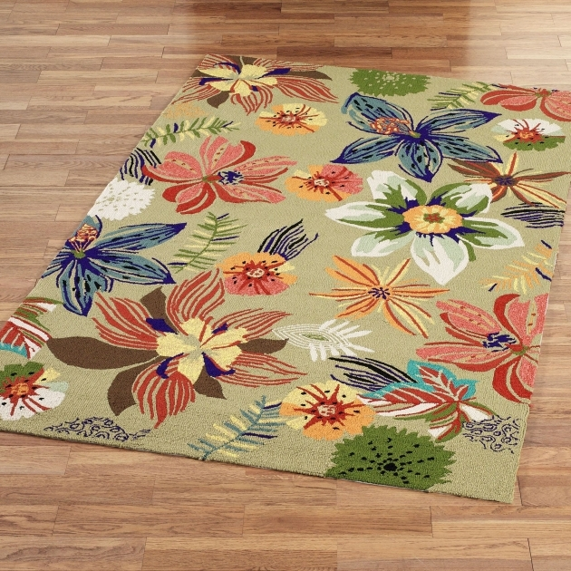 Indoor Outdoor Rugs Four Seasons Tropical Floral Pic 98