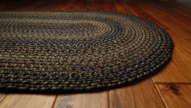 Oval Braided Rugs Decor Ultra Durable Black Forest Images 09