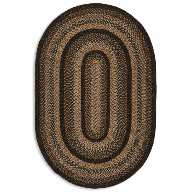 Oval Braided Rugs Jute Charcoal Photo 26