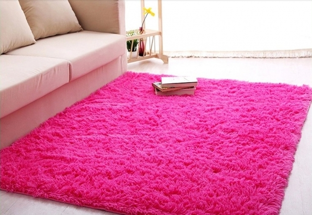Pink Shag Rug Kid Room Rugs Pic 54