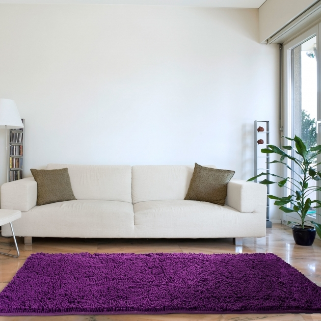 Purple Shag Rug High Pile Solid Area Rugs Picture 97