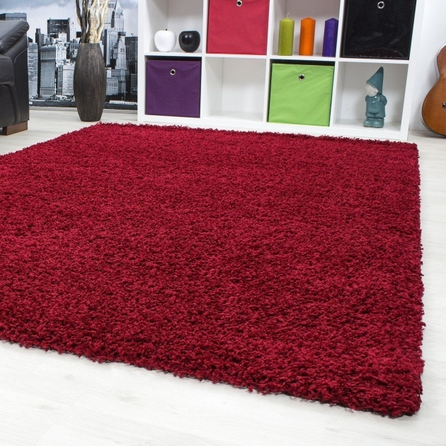 Red Shag Rug 120 X 170 Cm 5 Cm Pile Height Living Room Carpet Picture 59