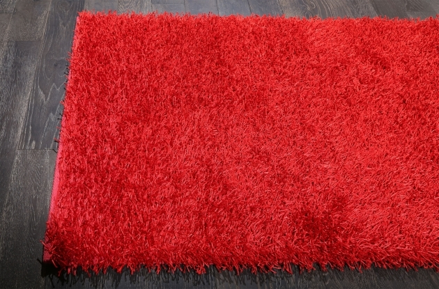 Red Shag Rug Solid Bold And Beautiful Red Shag Rug 8x10 Pic 12