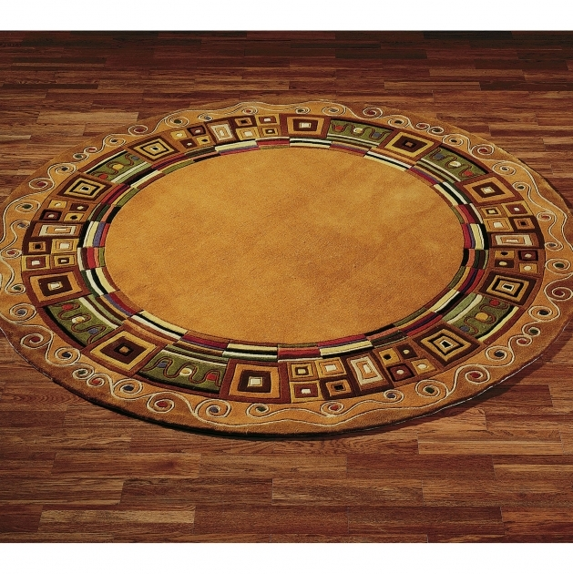 Round Area Rugs Circular Model And Style Image 09
