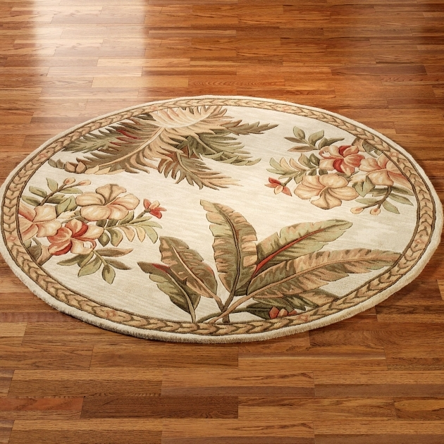 Round Area Rugs Tropical Picture 75