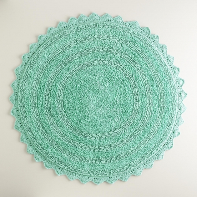 Round Bath Rugs Circle Bathroom Rugs Bath Mat Sea Blue Photos 11