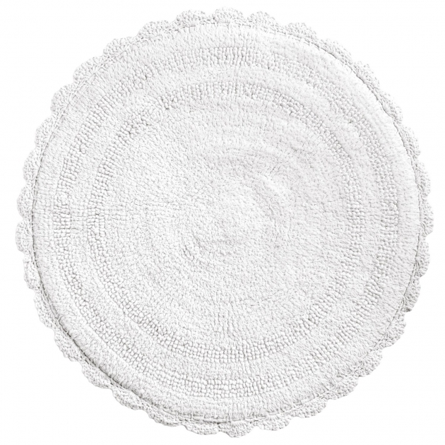 Round Bath Rugs Espalma Round Crochet Border Bath Rug Reversible In Whitepg Photo 66