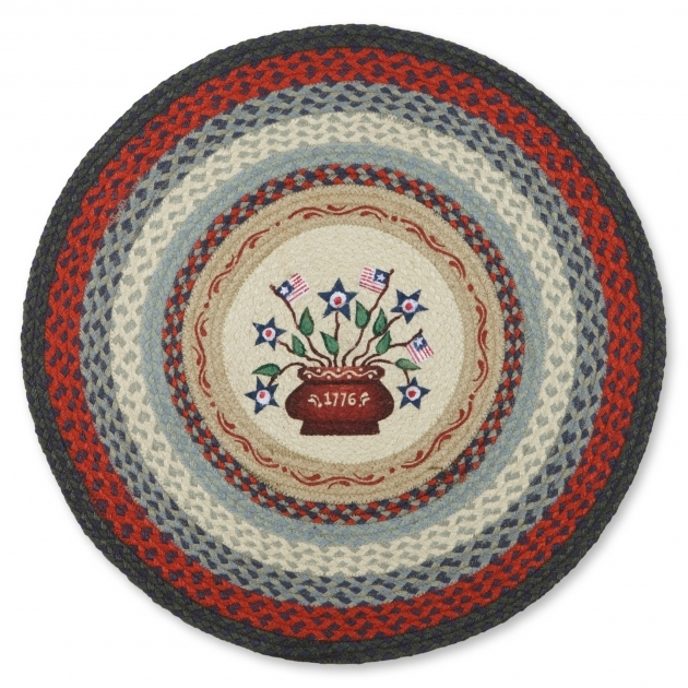 Round Braided Rugs Americana Jute Rug Picture 02