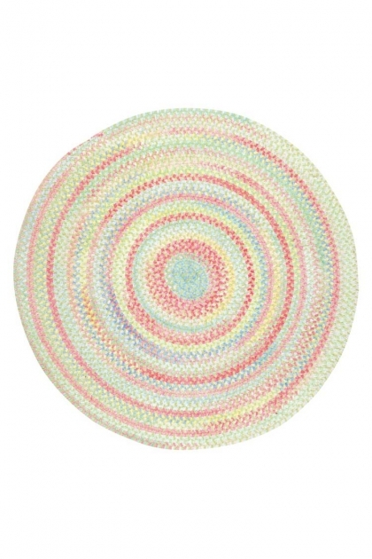 Round Braided Rugs Baby's Breath Braided Chenille Rug Light Green  Pics 60