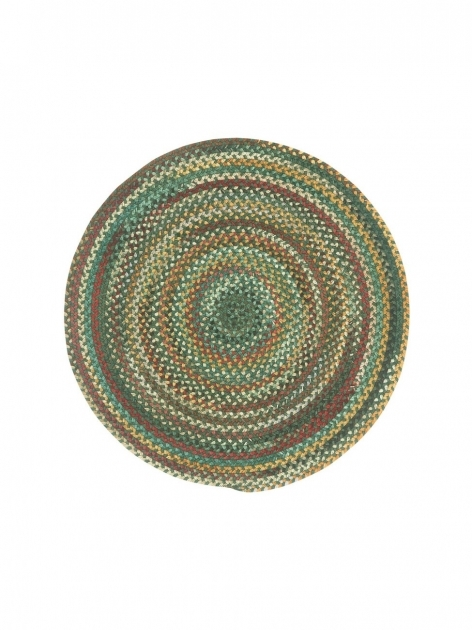 Round Braided Rugs Dark Green Sherwood Forest Photos 74
