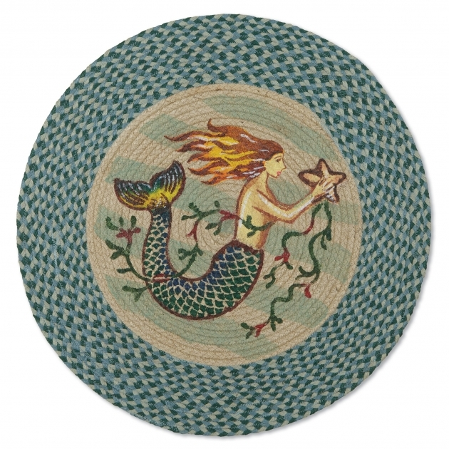Round Braided Rugs Folk Art Mermaid Images 38