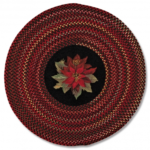 Round Braided Rugs Poinsettia Pic 09