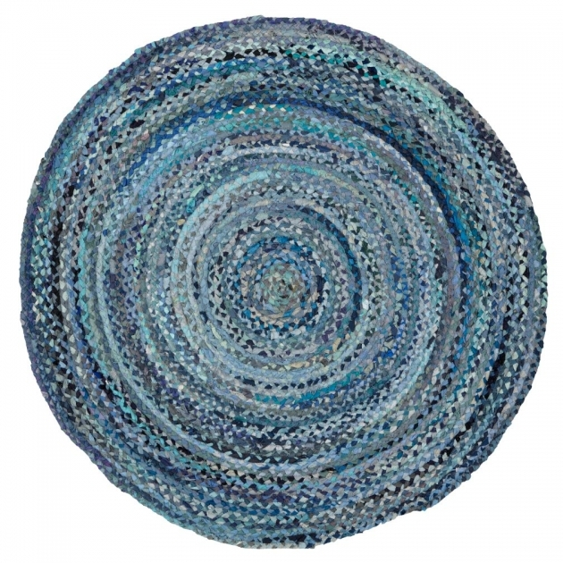 Round Braided Rugs Ribbon Rug Blue Photo 12