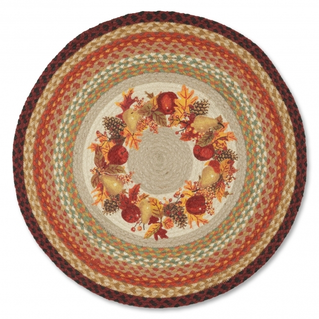 Round Jute Rug Festive For Your Harvest Decor Picture 06