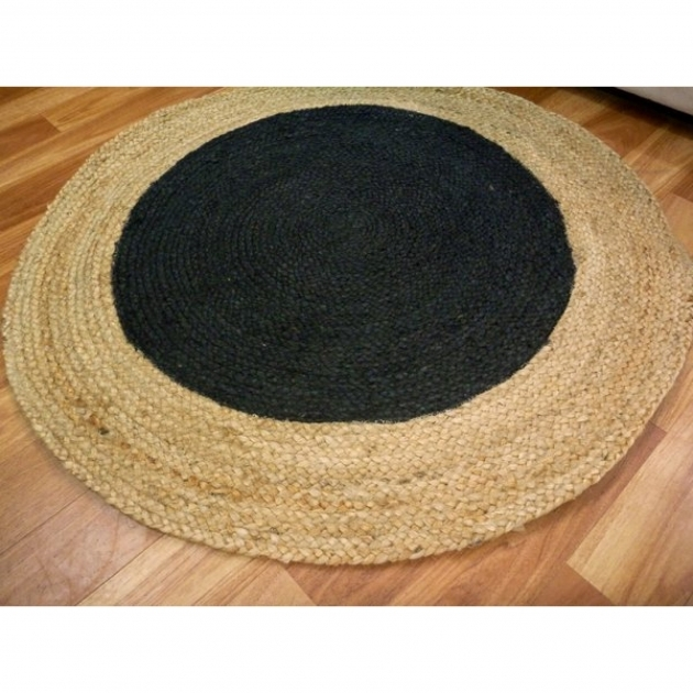 Round Jute Rug Seagrass Braided Jute Target Black Round Circle Floor Rug Picture 40