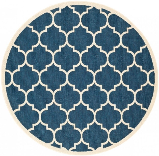 Round Outdoor Rugs Tile Pattern Pic 49