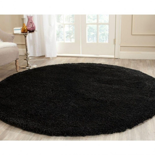Round Shag Area Rug Safavieh California Shag Black 4 Ft X 4 Ft Round Area Rug Sg151 Photo 65