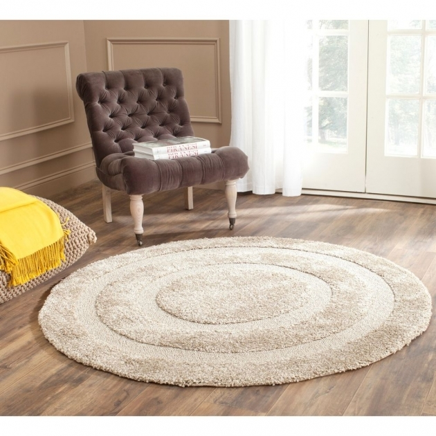 Round Shag Area Rug With Metallic Images 77