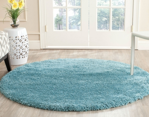 Round Shag Rug Aqua Shag Milan Collection Safavieh Image 08