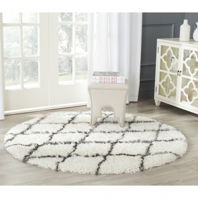 Round Shag Rug Decorating With Area Rug Round Safavieh Adirondack Ivory Silver Picture 46