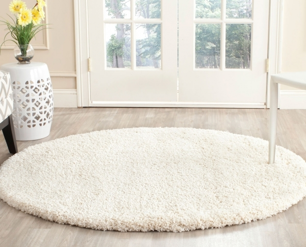 Round Shag Rug Plush Pile Ivory Shag Rugs Milan Shag Collection Picture 53