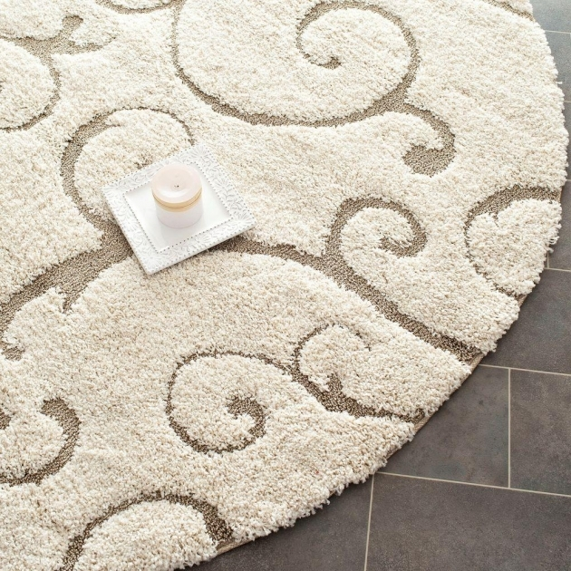 Round Shag Rug Safavieh Florida Shag Creambeige 5 Ft X 5 Ft Round Area Rugs Photo 46