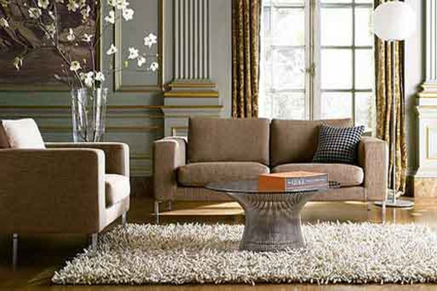 Rugs For Living Room Decorating Ideas With Round Glass Top Coffee Table Above Beige Fur Rug Images 28