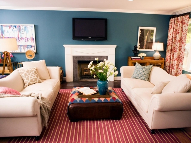 Rugs For Living Room HDSW1202 With Blue Wall Decor Living Room Photo 77