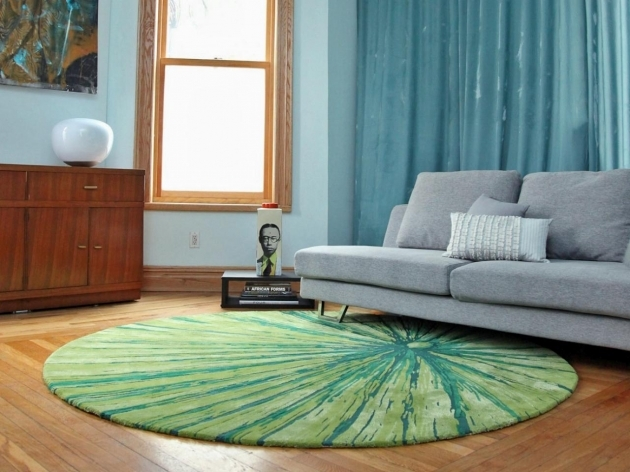 Rugs For Living Room Malene B Round Green Rug Image 19