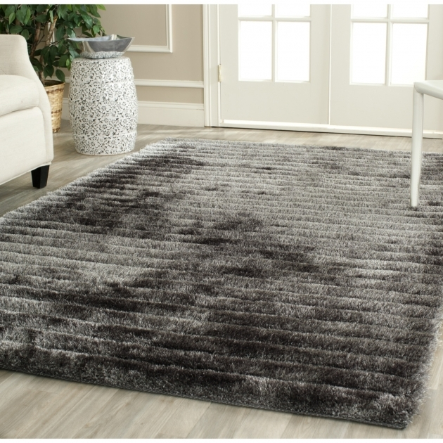 Shag Area Rugs Safavieh Hand Tufted Silver 3d Photo 09