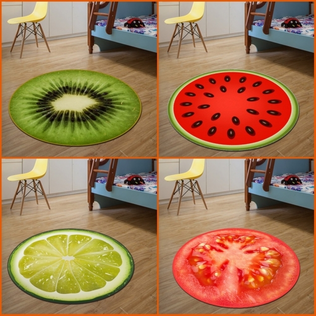 Small Round Rugs 3D Fruit Pictures 27