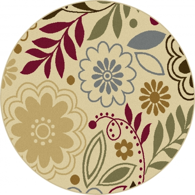 Small Round Rugs 4542 Tayse Laguna 4542 Beige 5 Ft 3 In Round Contemporary Area Rug Photo 39