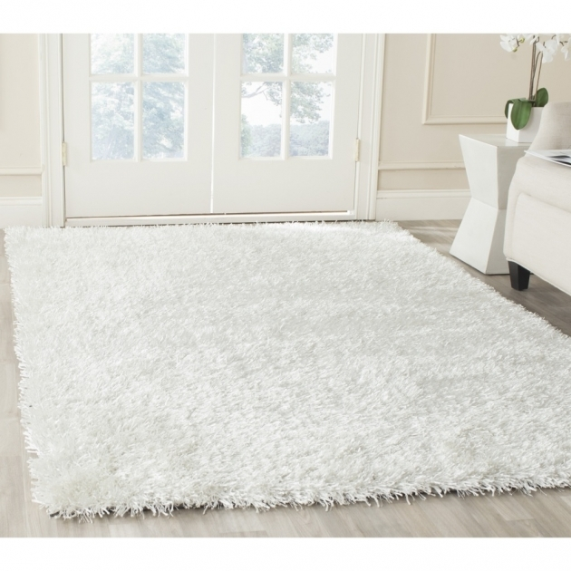 White Shag Area Rug Hand Tufted Silken Off White Shag Area Rugs Sg531 Pictures 22