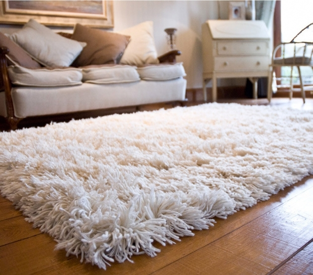 White Shag Rug Best Carpets Inspirations Image 10