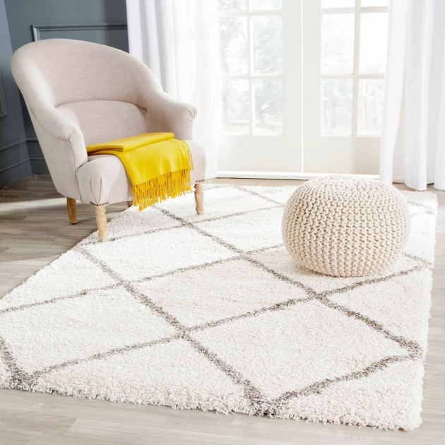 White Shag Rug Hudson Amias Power Loomed Images 25
