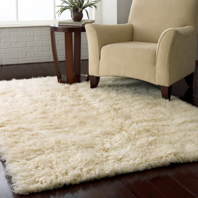 White Shag Rug Soft Ikea In Medium Size An Arm Chair A Wooden Side Table Photos 82