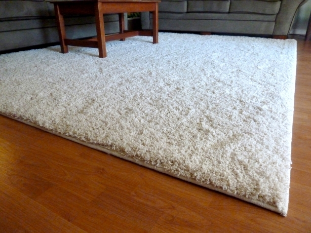 White Shag Rug The Mace Place With Wood Flooring And Grey Sofa Interior Image 89