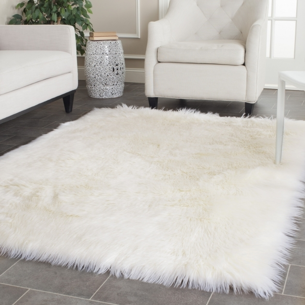 White Shag Rug Throw Faux Sheepskin Rug Ikea Pic 53